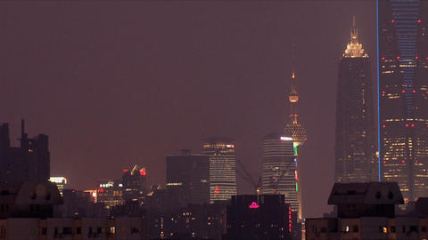 Shanghai city view zoom out Stock Video Footage