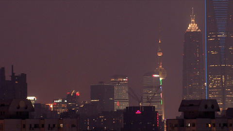 Shanghai city view zoom out Footage