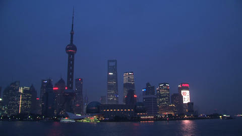 Shanghai skyline time lapse Stock Video Footage