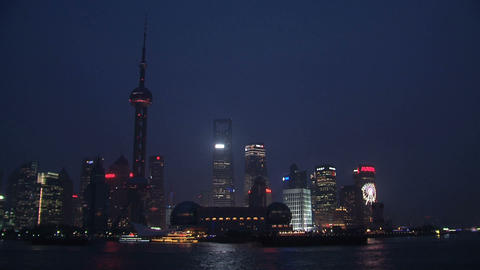 Shanghai Skyline Time Lapse stock footage