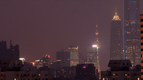 Zoom out city Shanghai Stock Video Footage