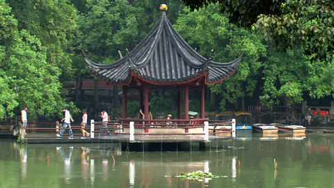 Pond at Jing an Park Footage