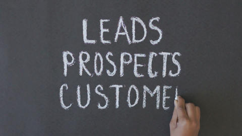 Leads, prospects, customers Stock Video Footage