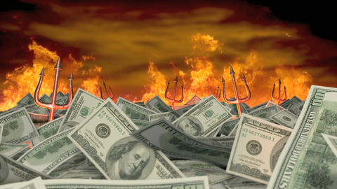 Money Is Evil stock footage