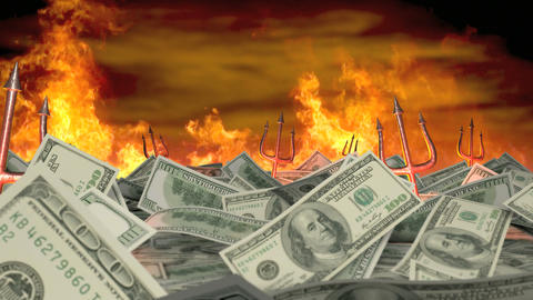Money is Evil Stock Video Footage