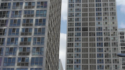 tall office buildings,intensive windows Stock Video Footage