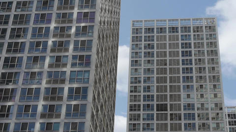 tall office buildings,intensive windows Footage
