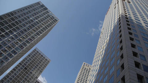 CBD tall office buildings Stock Video Footage