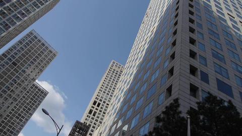 CBD tall office buildings Stock Video Footage