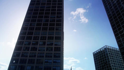 Backlight of CBD tall office buildings... Stock Video Footage