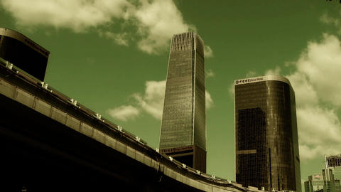 city financial district,business skyscraper in... Stock Video Footage