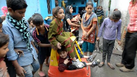 Indian children Stock Video Footage
