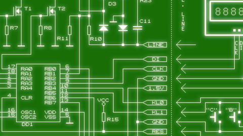 printed circuit board Animation