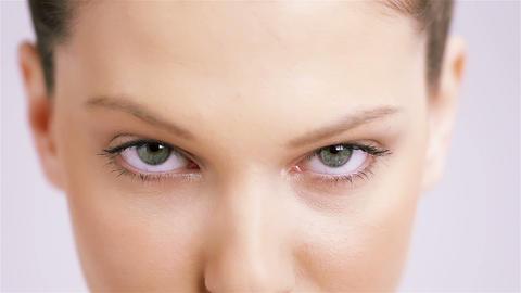 Woman Blue eyes Footage