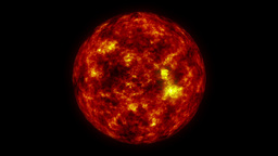 Fire Ball Animation (Sun) Stock Video Footage