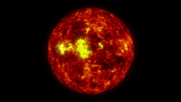Fire Ball Animation (Sun) Stock Video Footage
