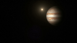 The Planet Jupiter in Space Stock Video Footage