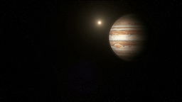 The Planet Jupiter in Space Animation