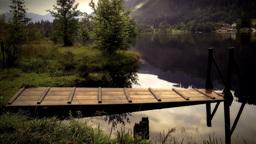 Lake Side Landing Jetty Stock Video Footage