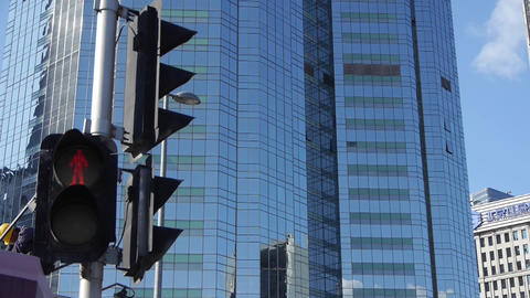 skyscraper & worker,CBD tall office buildings,traffic... Stock Video Footage