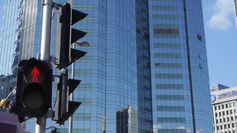 skyscraper & worker,CBD tall office buildings,traffic light Footage