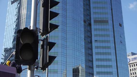 skyscraper & worker in Beijing,CBD tall office... Stock Video Footage
