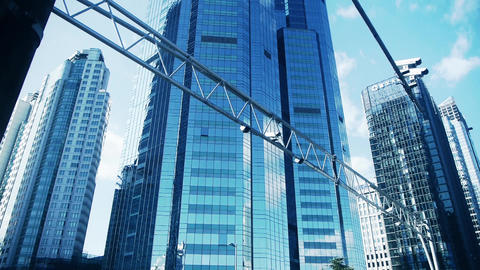 skyscraper in Beijing,business tall office buildings... Stock Video Footage