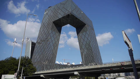 Beijing CCTV Building,business Building District In China stock footage