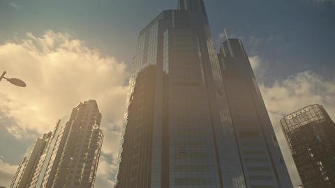 skyscraper in sandstorm,business tall office buildings district in beijing Footage