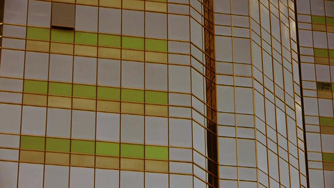 closeup skyscraper glass windows,business buildings... Stock Video Footage