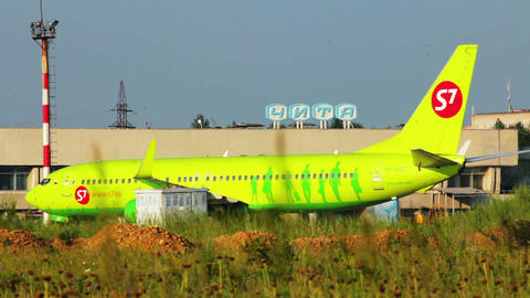 Boeing 737-800 taxiing at airport Stock Video Footage