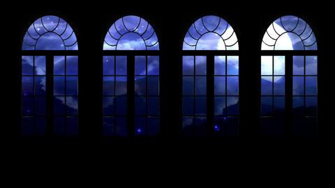 Night Window Stock Video Footage