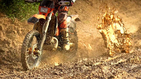 Morocross Through Mud Footage