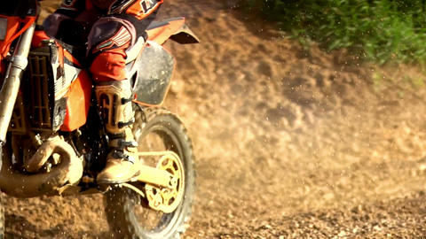 Morocross Through Mud Stock Video Footage
