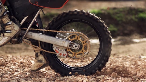Motocross Wheel Spin Stock Video Footage