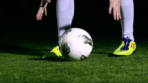 Soccer Ball Kick Stock Video Footage