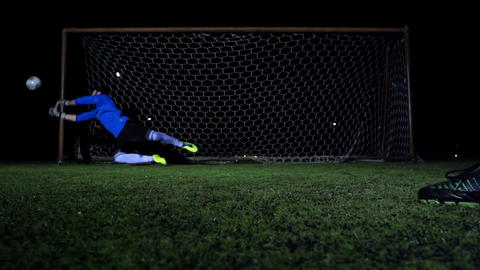 Soccer Goalkeeper Stock Video Footage