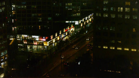 nighttime traffic in an urban city,China Stock Video Footage