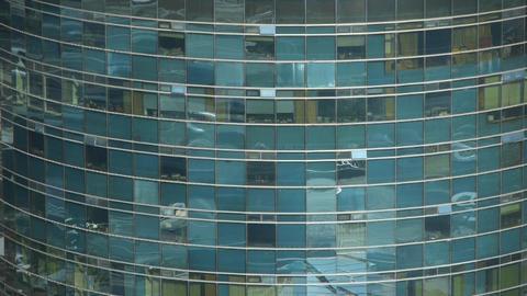 closeup skyscraper glass windows reflect ,business... Stock Video Footage