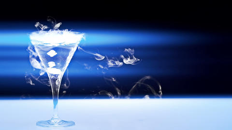 Dry Ice Martini stock footage