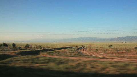 Train Steppe Blue Sky Footage