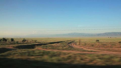 Train Steppe Blue Sky Footage