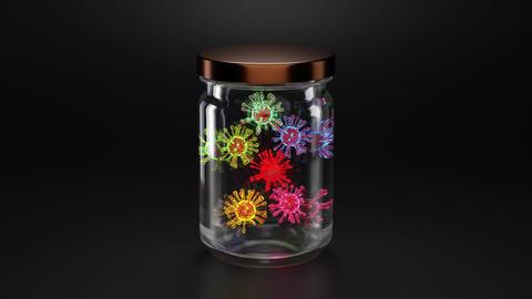 Bacillus in a jar Animation