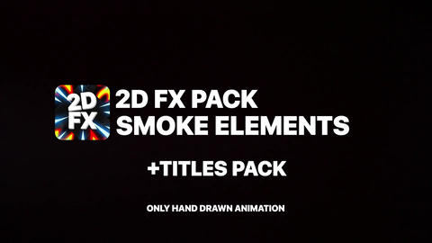 Smoke Elements And Titles After Effects Template