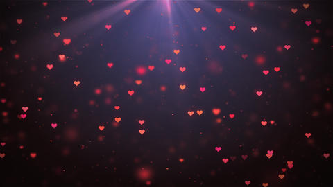 Small hearts for Valentines Day, Mothers Day or wedding events background Animation