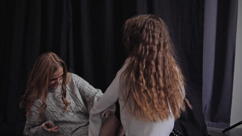 Happy mom and daughter fooling around. Happy Family concept in 4K slow motion Live Action