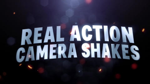 Real Action Camera Shakes After Effects Animation Preset