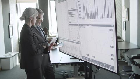 Professionals investors working together Live Action