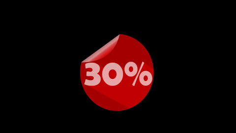 Sale, discount, special offer, animated banner with percent, moving percent labe Animation