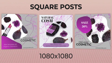 Square Posts After Effects Template